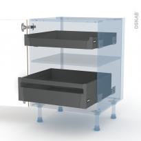 OKA Chêne - Kit Rénovation 18 - Meuble bas - 2 tiroirs à l'anglaise - L60xH70xP60