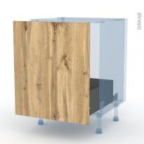 OKA Chêne - Kit Rénovation 18 - Meuble sous-évier  - 1 porte coulissante - L60xH70xP60