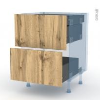 OKA Chêne - Kit Rénovation 18 - Meuble casserolier - 2 tiroirs-1 tiroir anglaise - L60xH70xP60