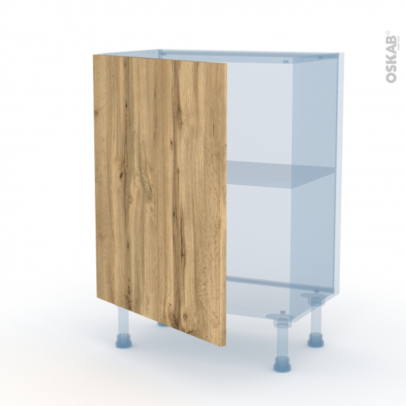 OKA Chêne - Kit Rénovation 18 - Meuble bas prof.37  - 1 porte - L60xH70xP37,5