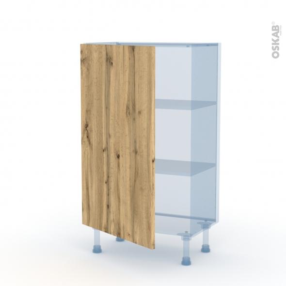 OKA Chêne - Kit Rénovation 18 - Meuble bas prof.37  - 1 porte - L60xH92xP37,5