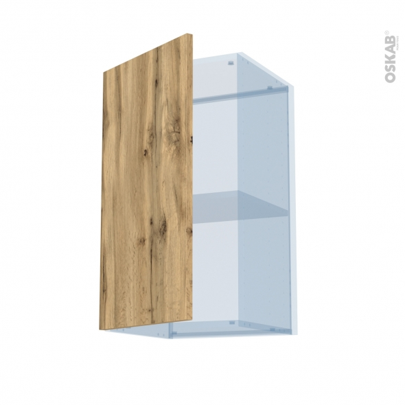 OKA Chêne - Kit Rénovation 18 - Meuble haut ouvrant H70  - 1 porte - L40xH70xP37,5