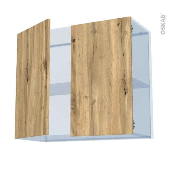 OKA Chêne - Kit Rénovation 18 - Meuble haut ouvrant H70  - 2 portes - L80xH70xP37,5