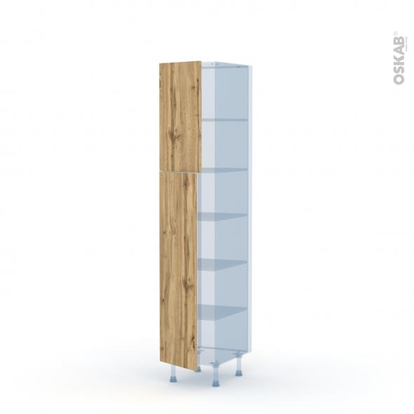 OKA Chêne - Kit Rénovation 18 - Armoire étagère N°1926  - 2 portes - L40xH195xP60
