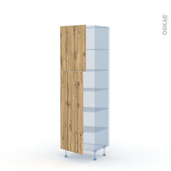 OKA Chêne - Kit Rénovation 18 - Armoire étagère N°2721  - 2 portes - L60xH195xP60