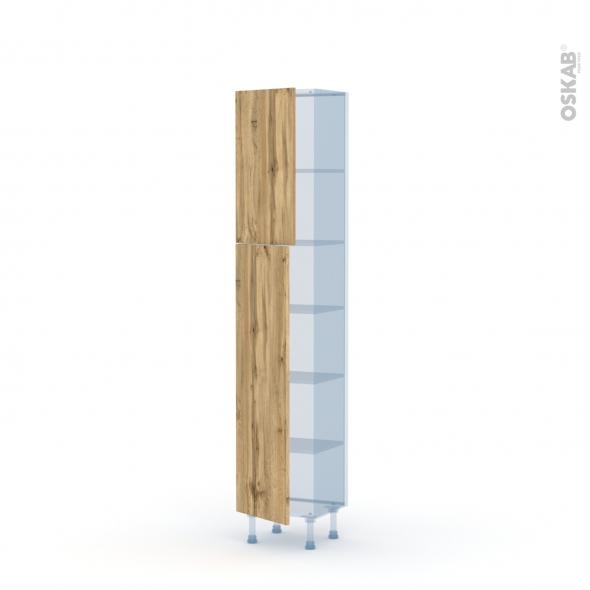 OKA Chêne - Kit Rénovation 18 - Armoire étagère N°1926   - Prof.37  2 portes - L40xH195xP37,5