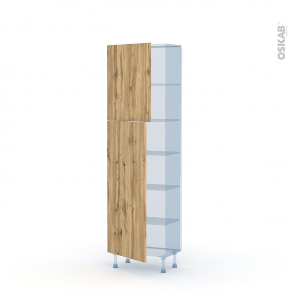 OKA Chêne - Kit Rénovation 18 - Armoire étagère N°2127   - Prof.37  2 portes - L60xH195xP37,5