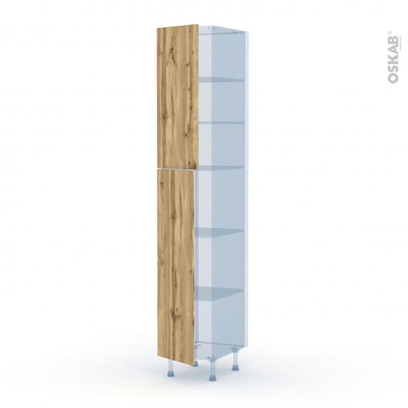 OKA Chêne - Kit Rénovation 18 - Armoire étagère N°2326  - 2 portes - L40xH217xP60
