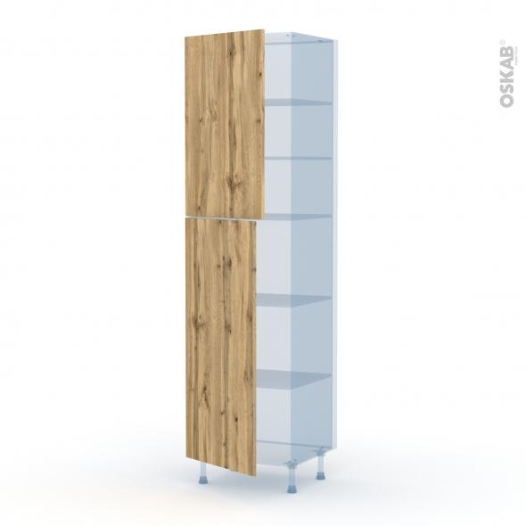 OKA Chêne - Kit Rénovation 18 - Armoire étagère N°2427  - 2 portes - L60xH217xP60