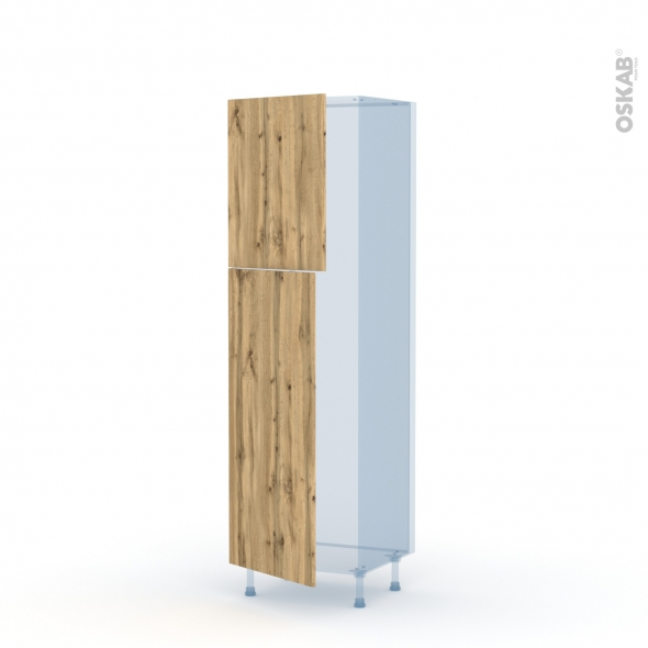 OKA Chêne - Kit Rénovation 18 - Armoire frigo N°2721  - 2 portes - L60xH195xP60