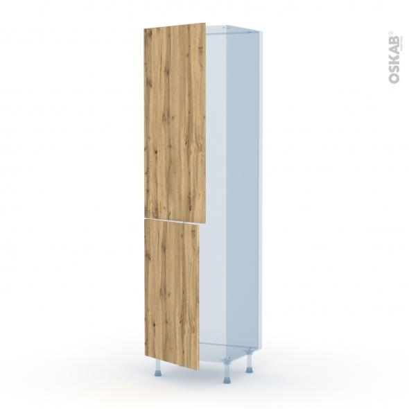 OKA Chêne - Kit Rénovation 18 - Armoire frigo N°2724  - 2 portes - L60xH217xP60