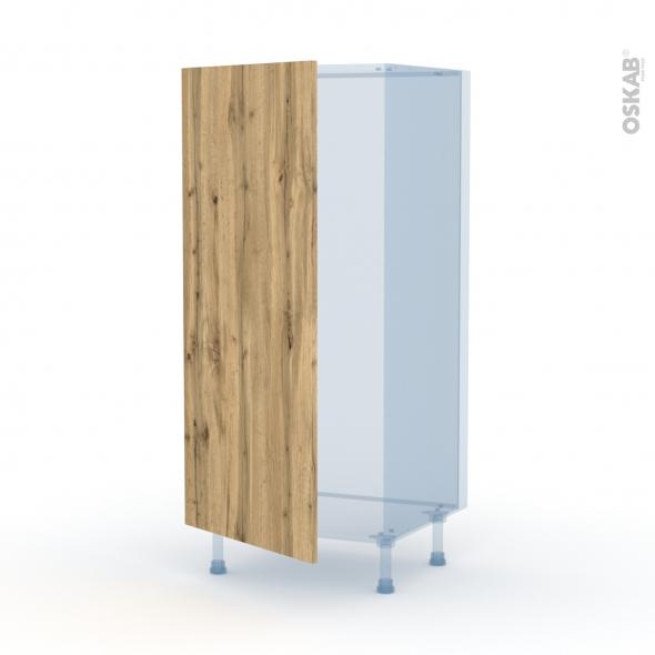 OKA Chêne - Kit Rénovation 18 - Armoire frigo N°27  - 1 porte - L60xH125xP60