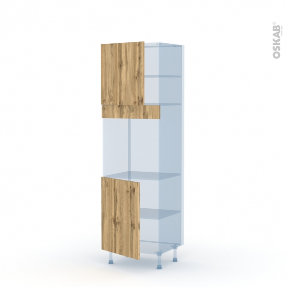 OKA Chêne - Kit Rénovation 18 - Colonne Four N°1621  - 2 portes - L60xH195xP60