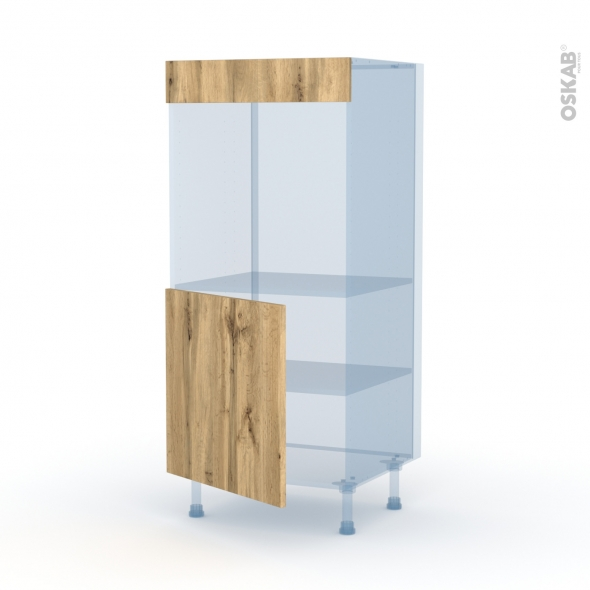 OKA Chêne - Kit Rénovation 18 - Colonne Four N°16  - 1 porte - L60xH125xP60