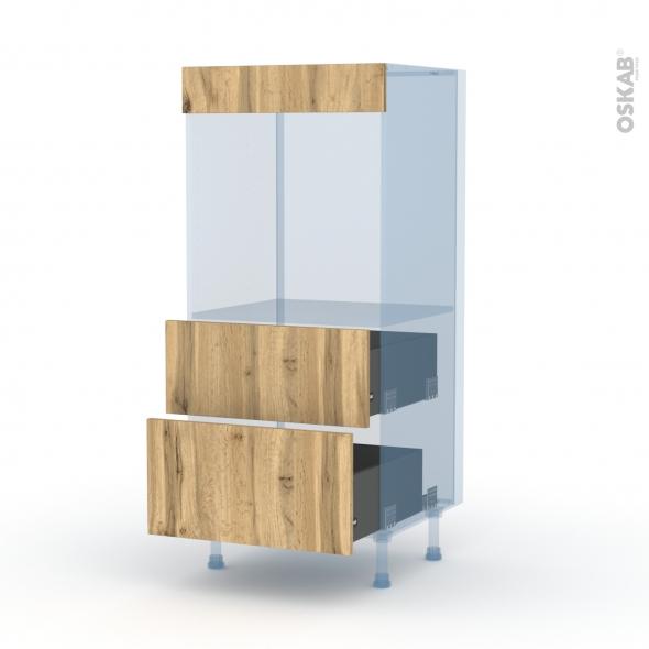 OKA Chêne - Kit Rénovation 18 - Colonne Four N°58  - 2 casseroliers - L60xH125xP60