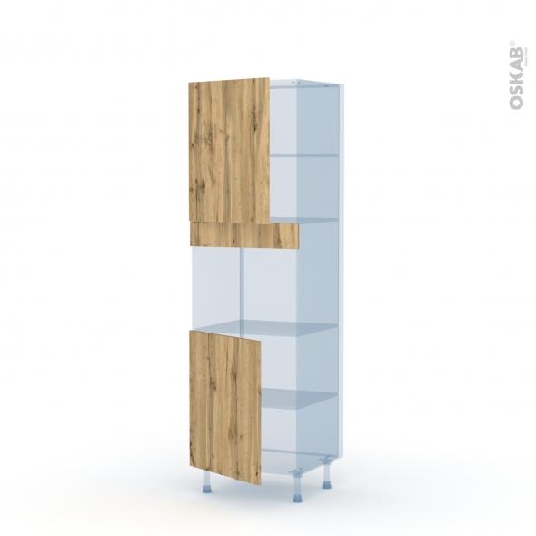 OKA Chêne - Kit Rénovation 18 - Colonne Four niche 45 N°2121  - 2 portes - L60xH195xP60