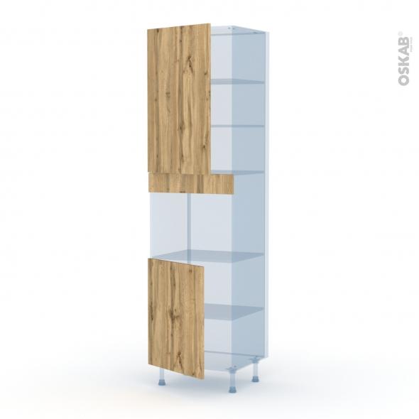 OKA Chêne - Kit Rénovation 18 - Colonne Four niche 45 N°2421  - 2 portes - L60xH217xP60