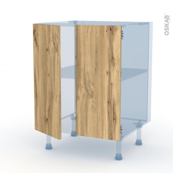 OKA Chêne - Kit Rénovation 18 - Meuble bas cuisine - 2 portes - L60xH70xP60