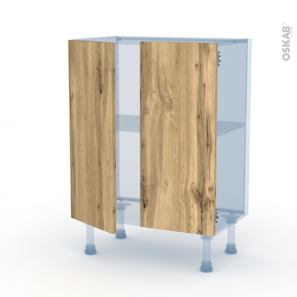 OKA Chêne - Kit Rénovation 18 - Meuble bas prof.37 - 2 portes - L60xH70xP37,5