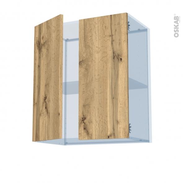 OKA Chêne - Kit Rénovation 18 - Meuble haut ouvrant H70 - 2 portes - L60xH70xP37,5