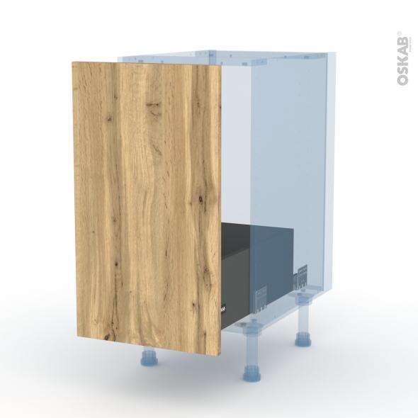 OKA Chêne - Kit Rénovation 18 - Meuble sous-évier  - 1 porte coulissante - L40xH70xP60