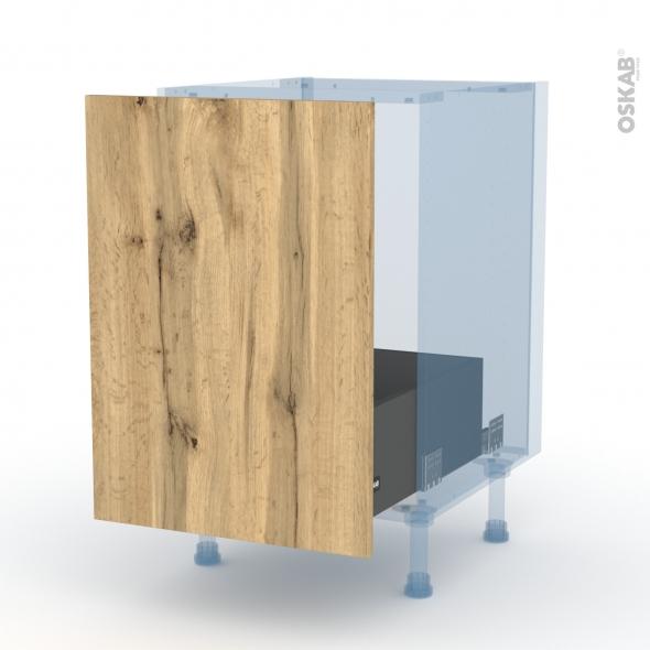 OKA Chêne - Kit Rénovation 18 - Meuble sous-évier  - 1 porte coulissante - L50xH70xP60