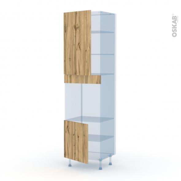 OKA Chêne - Kit Rénovation 18 - Colonne Four N°1624 - 2 portes - L60xH217xP60