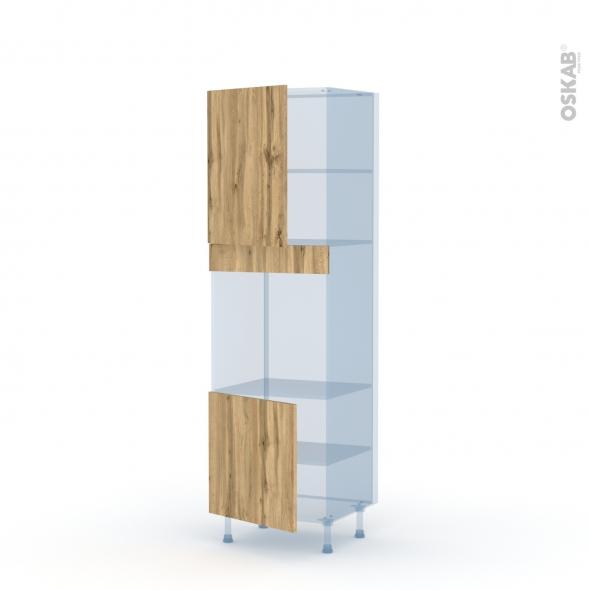 OKA Chêne - Kit Rénovation 18 - Colonne Four niche 60 N°2116 - 2 portes - L60xH195xP60