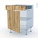 OKA Chêne - Kit Rénovation 18 - Meuble bas cuisine  - 1 porte 1 tiroir - L60xH70xP60