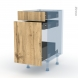 OKA Chêne - Kit Rénovation 18 - Meuble range épice - 3 tiroirs - L40xH70xP60