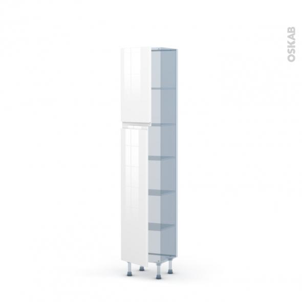IPOMA Blanc - Kit Rénovation 18 - Armoire étagère N°1926   - Prof.37  2 portes - L40xH195xP37,5