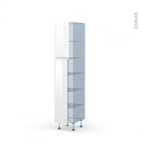 IPOMA Blanc - Kit Rénovation 18 - Armoire étagère N°1926  - 2 portes - L40xH195xP60