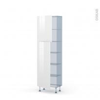 STECIA Blanc - Kit Rénovation 18 - Armoire étagère N°2127   - Prof.37  2 portes - L60xH195xP37,5