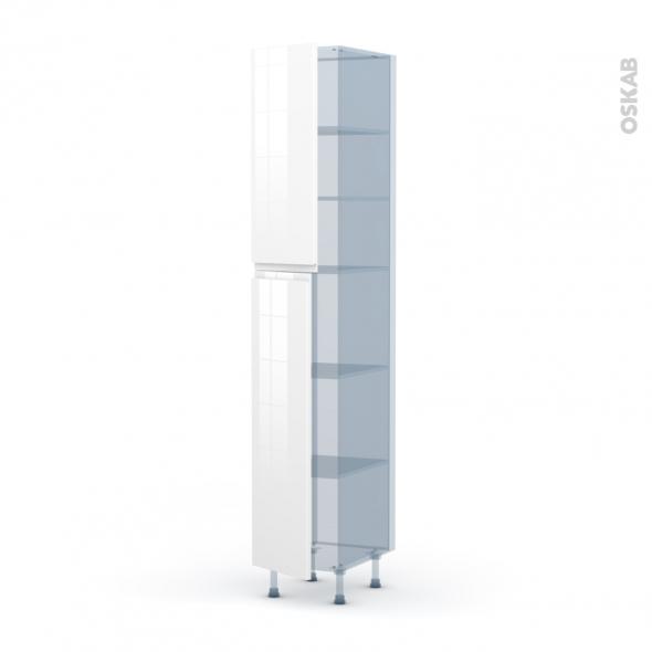 IPOMA Blanc - Kit Rénovation 18 - Armoire étagère N°2326  - 2 portes - L40xH217xP60