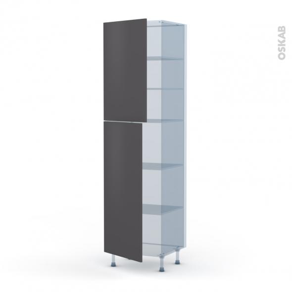 GINKO Gris - Kit Rénovation 18 - Armoire étagère N°2427  - 2 portes - L60xH217xP60