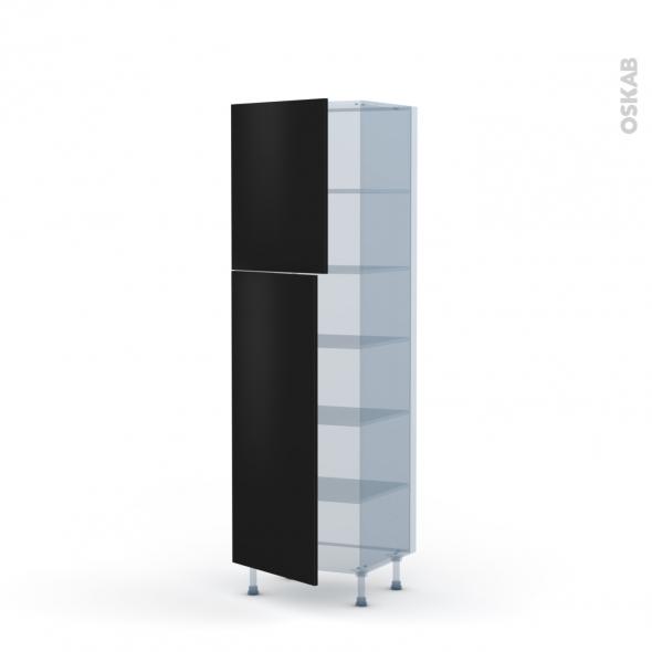 GINKO Noir - Kit Rénovation 18 - Armoire étagère N°2721  - 2 portes - L60xH195xP60