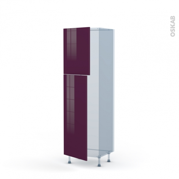 KERIA Aubergine - Kit Rénovation 18 - Armoire frigo N°2721  - 2 portes - L60xH195xP60