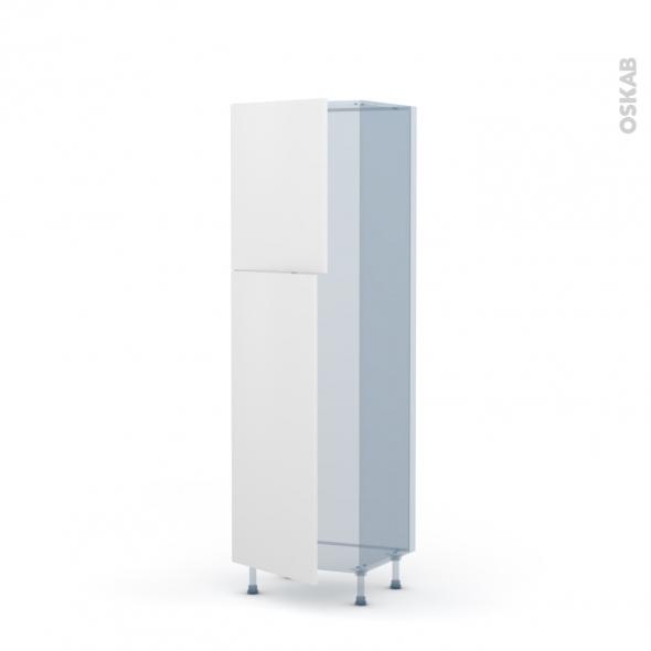 GINKO Blanc - Kit Rénovation 18 - Armoire frigo N°2721 - 2 portes - L60xH195xP60