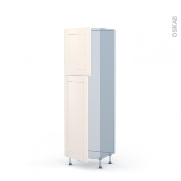 FILIPEN Ivoire - Kit Rénovation 18 - Armoire frigo N°2721  - 2 portes - L60xH195xP60