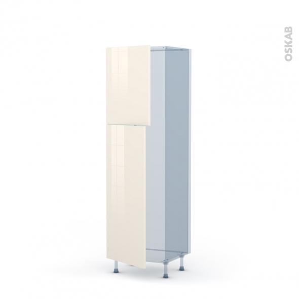 KERIA Ivoire - Kit Rénovation 18 - Armoire frigo N°2721  - 2 portes - L60xH195xP60