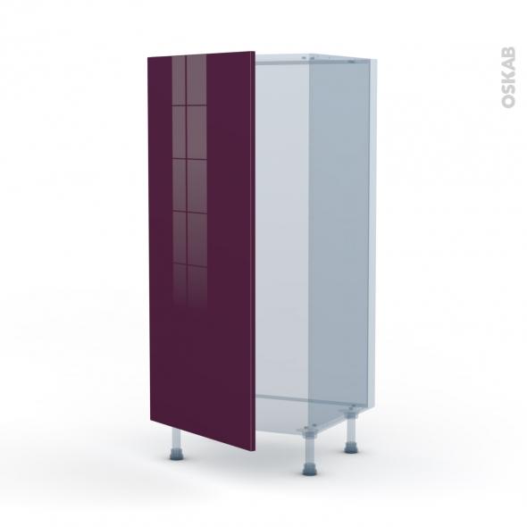KERIA Aubergine - Kit Rénovation 18 - Armoire frigo N°27  - 1 porte - L60xH125xP60