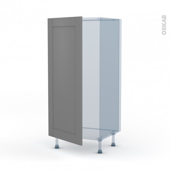 FILIPEN Gris - Kit Rénovation 18 - Armoire frigo N°27  - 1 porte - L60xH125xP60