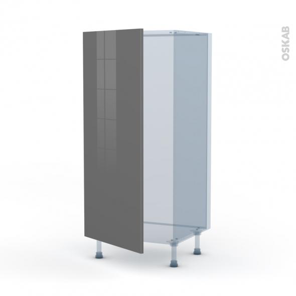 STECIA Gris - Kit Rénovation 18 - Armoire frigo N°27  - 1 porte - L60xH125xP60