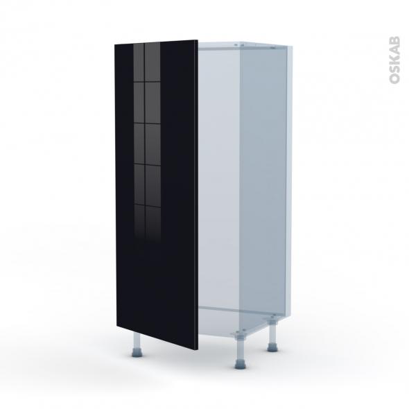 KERIA Noir - Kit Rénovation 18 - Armoire frigo N°27  - 1 porte - L60xH125xP60