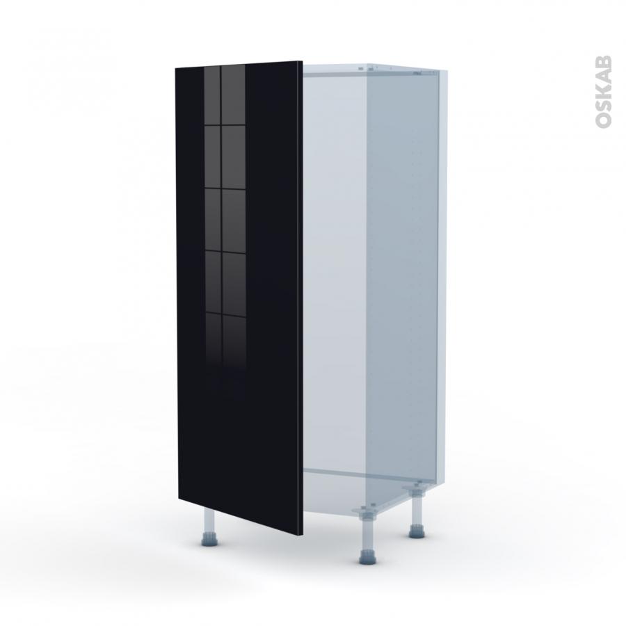 keria noir kit r novation 18 armoire frigo n 27 1 porte l60xh125xp60 oskab. Black Bedroom Furniture Sets. Home Design Ideas