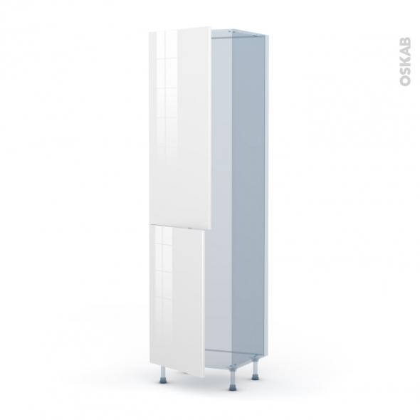 STECIA Blanc - Kit Rénovation 18 - Armoire frigo N°2724  - 2 portes - L60xH217xP60