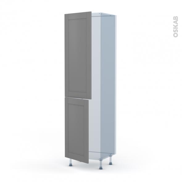FILIPEN Gris - Kit Rénovation 18 - Armoire frigo N°2724  - 2 portes - L60xH217xP60