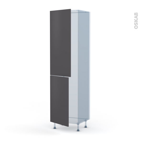 GINKO Gris - Kit Rénovation 18 - Armoire frigo N°2724  - 2 portes - L60xH217xP60