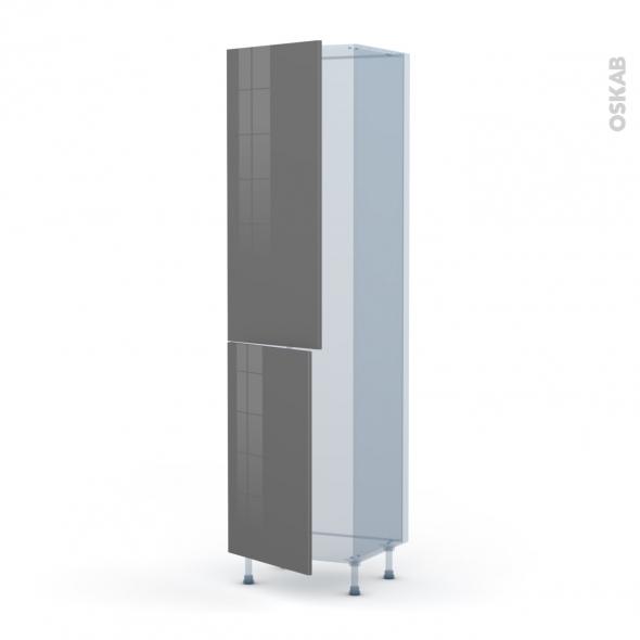STECIA Gris - Kit Rénovation 18 - Armoire frigo N°2724  - 2 portes - L60xH217xP60
