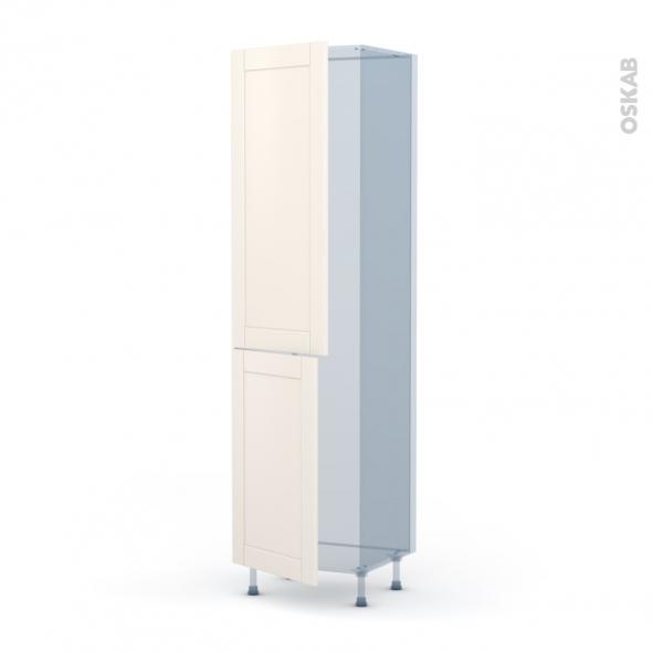 FILIPEN Ivoire - Kit Rénovation 18 - Armoire frigo N°2724  - 2 portes - L60xH217xP60